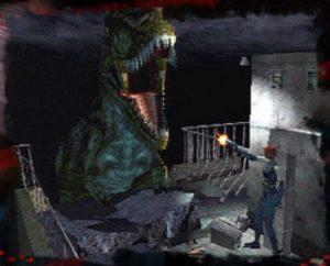Regina e um T-Rex