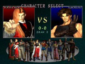 Tela de seleção de personagens