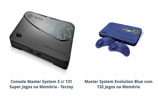 Consoles Master System TecToy